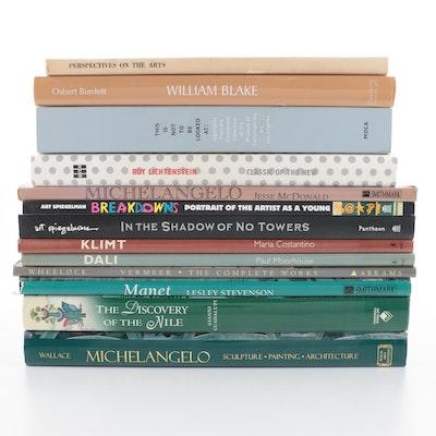 Art Books on Roy Lichtenstein, Michelangelo, and More