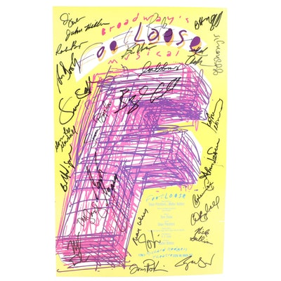 """""""Footloose"""" Broadway Musical Cast Signed Production Poster"""