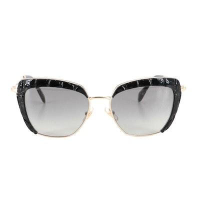 Miu Miu SMU52Q Textured Modified Cat Eye Sunglasses with Case