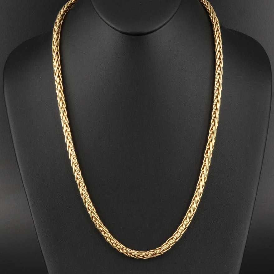 14K Wheat Chain Necklace