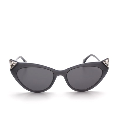 Fendi FF0356 Iridia Crystal-Tip Cat Eye Sunglasses with Case
