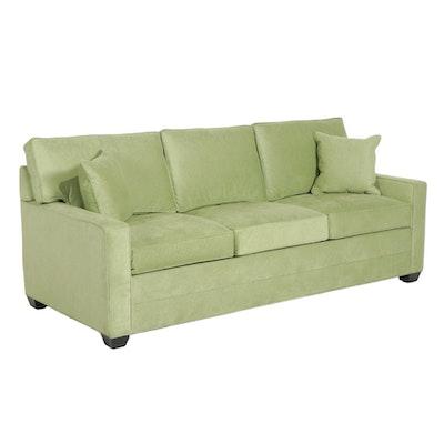Contemporary Ethan Allen Microfiber Sofa