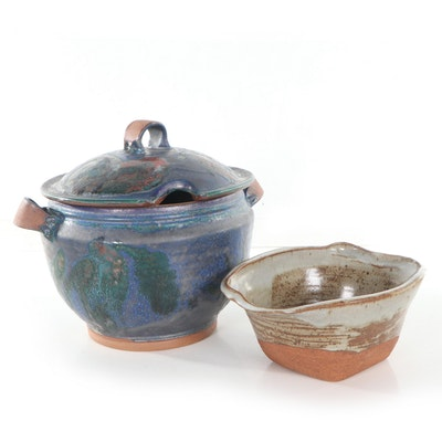 Studio Pottery Bowl and Lidded Tureen, Late 20th to 21st Century