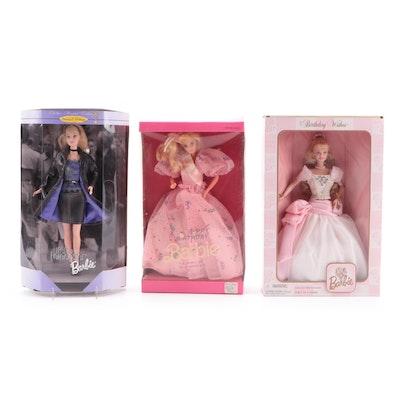 "Mattel Barbie ""Happy Birthday"", ""Trend Forecaster"" and ""Birthday Wishes"" Dolls"