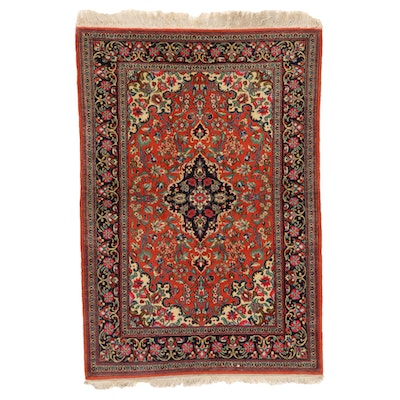 3'8 x 5'4 Hand-Knotted Indo-Persian Tabriz Area Rug