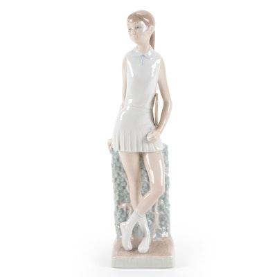"""Lladró """"Girl Player"""" Porcelain Figurine Designed by Vicente Martínez"""