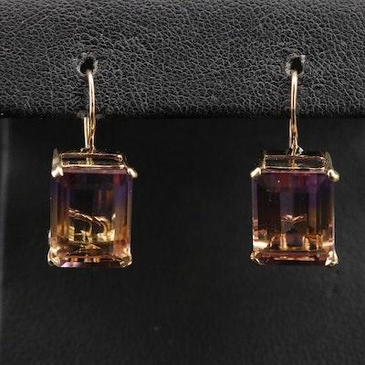 14K Ametrine Drop Earrings