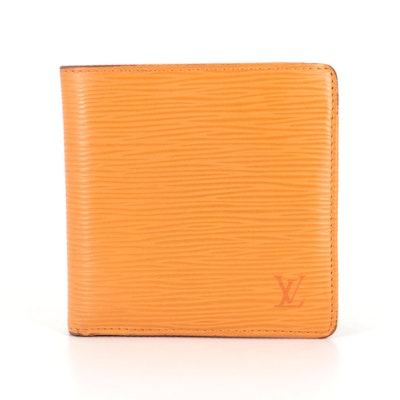 Louis Vuitton Portefeuille Marco in Mandarin Epi and Smooth Leather