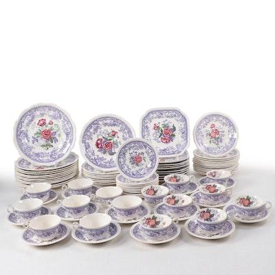 """Spode """"Mayflower"""" Porcelain Dinnerware and Serveware, 20th Century"""