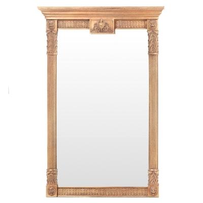 Neoclassical Style Gilt Composite Pier Mirror