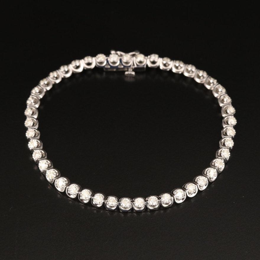 10K 2.92 CTW Diamond Line Bracelet