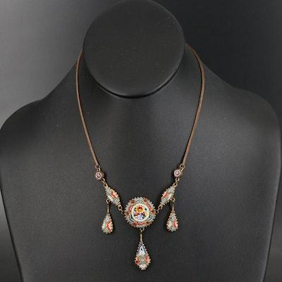 Italian Micromosaic Necklace
