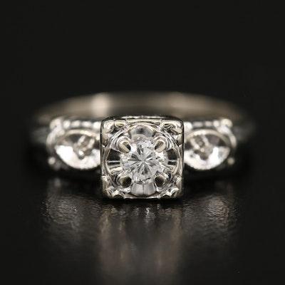 Vintage LoveBright 14K Diamond Ring