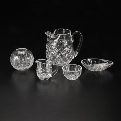 """Waterford """"Glandore"""" and """"Lismore"""" Crystal Pitcher and Table Accessories"""