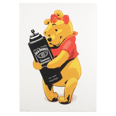"Death NYC Pop Art Graphic Print ""Winnie the Pooh,"" 2020"