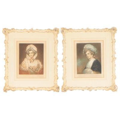 Elizabeth Gulland Portrait Mezzotints, Early 20th Century