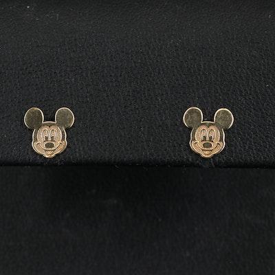 Disney 10K Mickey Mouse Stud Earrings