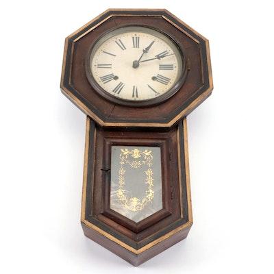 School House Regulator Wall Clock