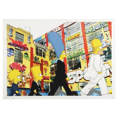 "Death NYC ""The Simpsons"" Pop Art Graphic Print ""Sim 5,"" 2020"