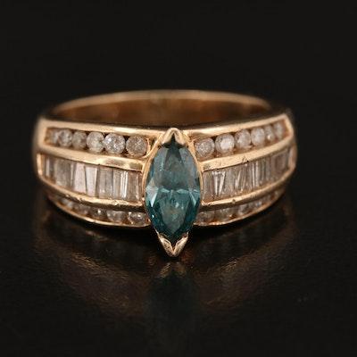14K 1.47 CTW Rose Gold Diamond Ring