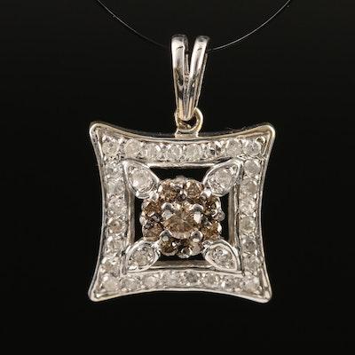 14K Diamond Pendant