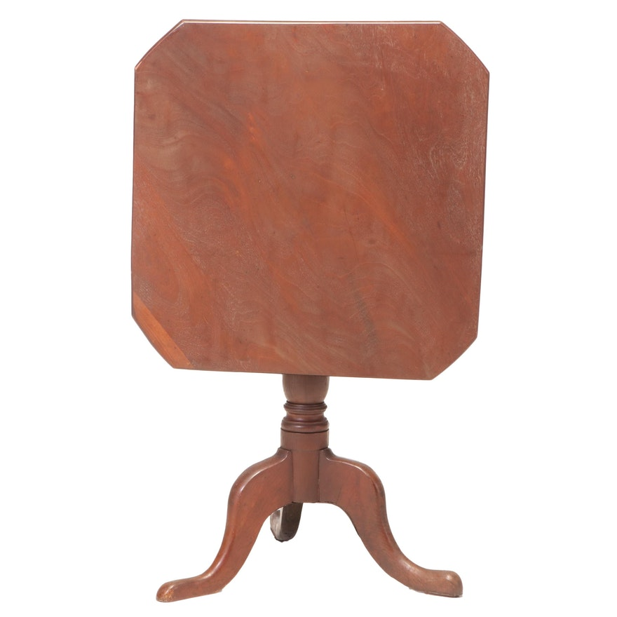 Mahogany and Oak Tilt-Top Tripod Table, 18th Century