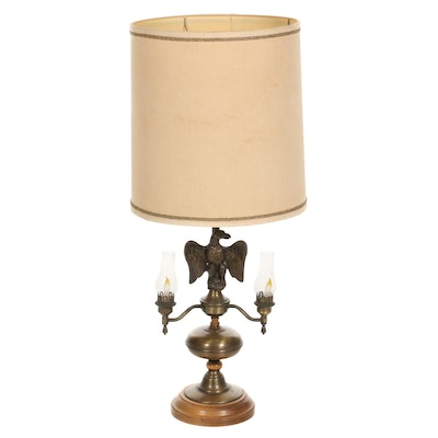 Brass Eagle Table Lamp, Early to Mid 20th Century