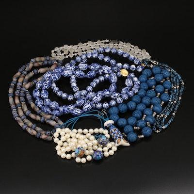 Cloisonné Enamel and Gemstone Necklaces