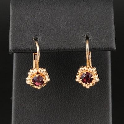 Italian 14K Flower Motif Earrings