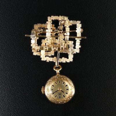 Bucherer Brooch Watch