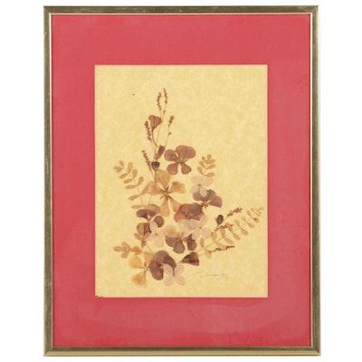 J. Barsauge Dried Flower and Leaf Collage, 1981