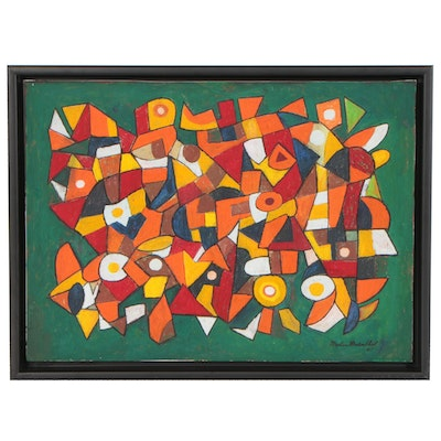 Martin Rosenthal Abstract Oil Painting, 1967