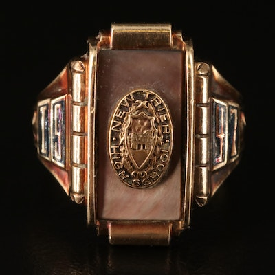 1947 Mother of Pearl and Enamel Class Ring