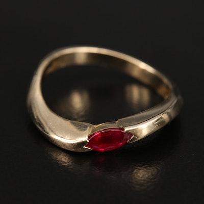 14K Ruby Twist Ring