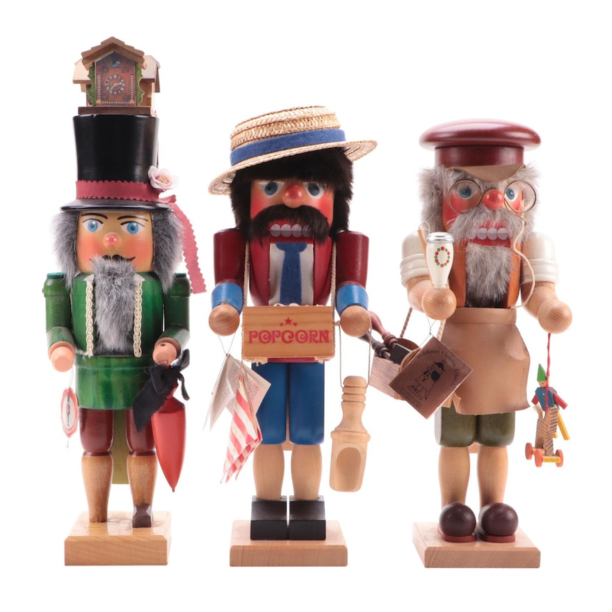 Christian Ulbricht and Other German Handcrafted Wood Nutcrackers