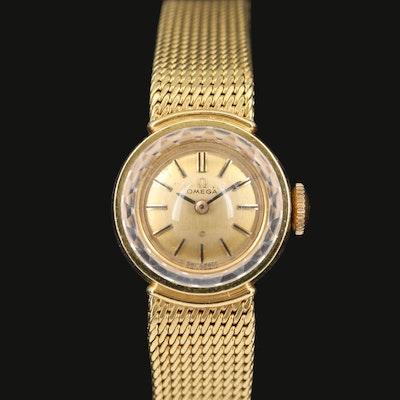18 Karat Omega Stem Wind Wristwatch