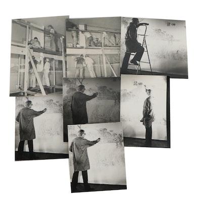 Edmond Fitzgerald Silver Gelatin Photographs of Artist's at Work