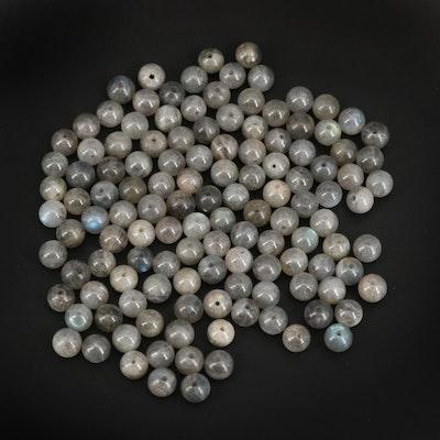 Loose  Round Labradorite Beads