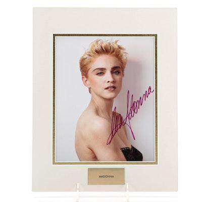 Madonna Signed Photo Print, COA