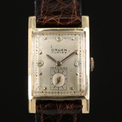 Gruen Curvex Precision 14K Wristwatch