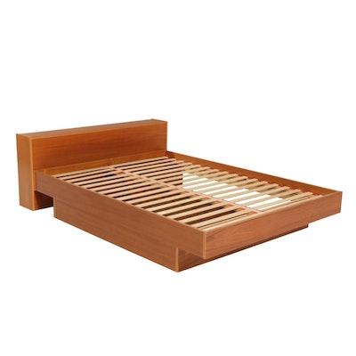 Faarup Mobilfabrik Danish Modern Teak Veneer Full Size Bed Platform