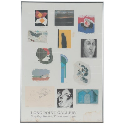 Long Point Gallery Offset Lithograph Exhibition Poster, 1982