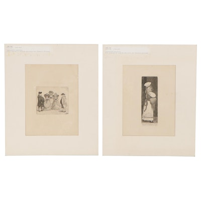 """John Kay Engravings from """"A Series of Original Portraits and Character Etchings"""""""