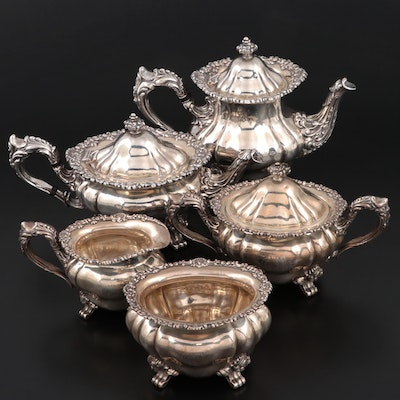Wm. B. Durgin Co. Sterling Silver Coffee and Tea Service, Early 20th C.