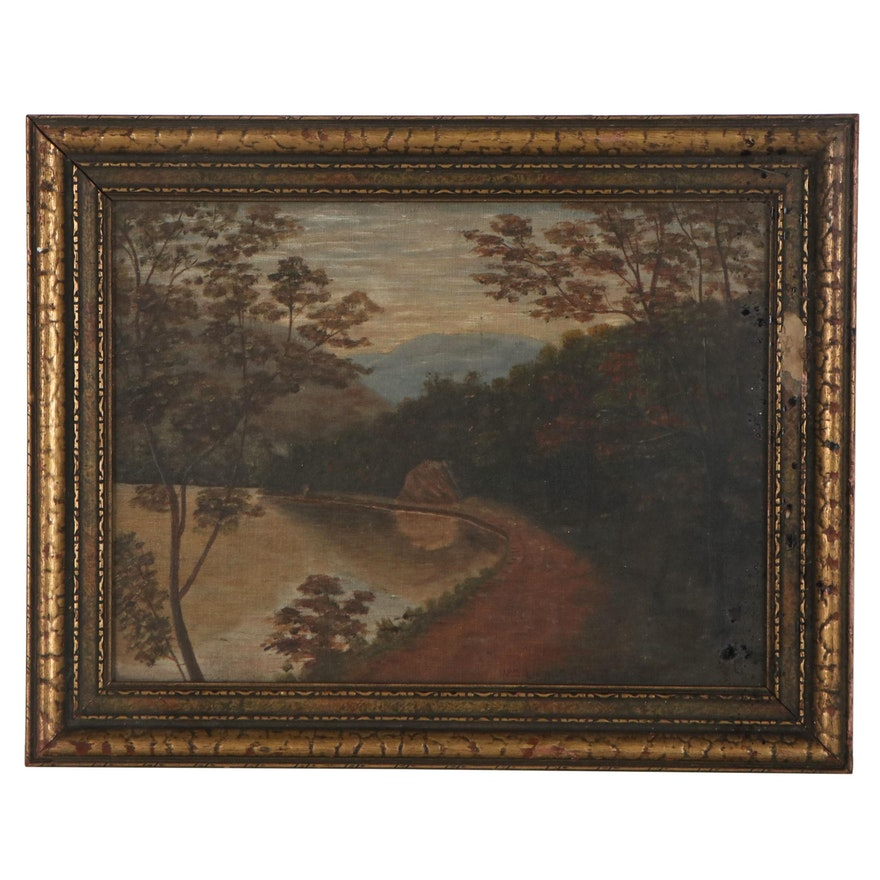 Landscape Oil Painting, Early 20th century