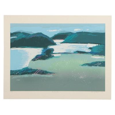 "Heidi Coutu Serigraph ""Mountain Lake"""