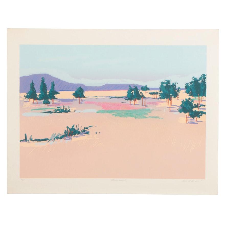 """Heidi Coutu Serigraph """"Meadowlands"""""""