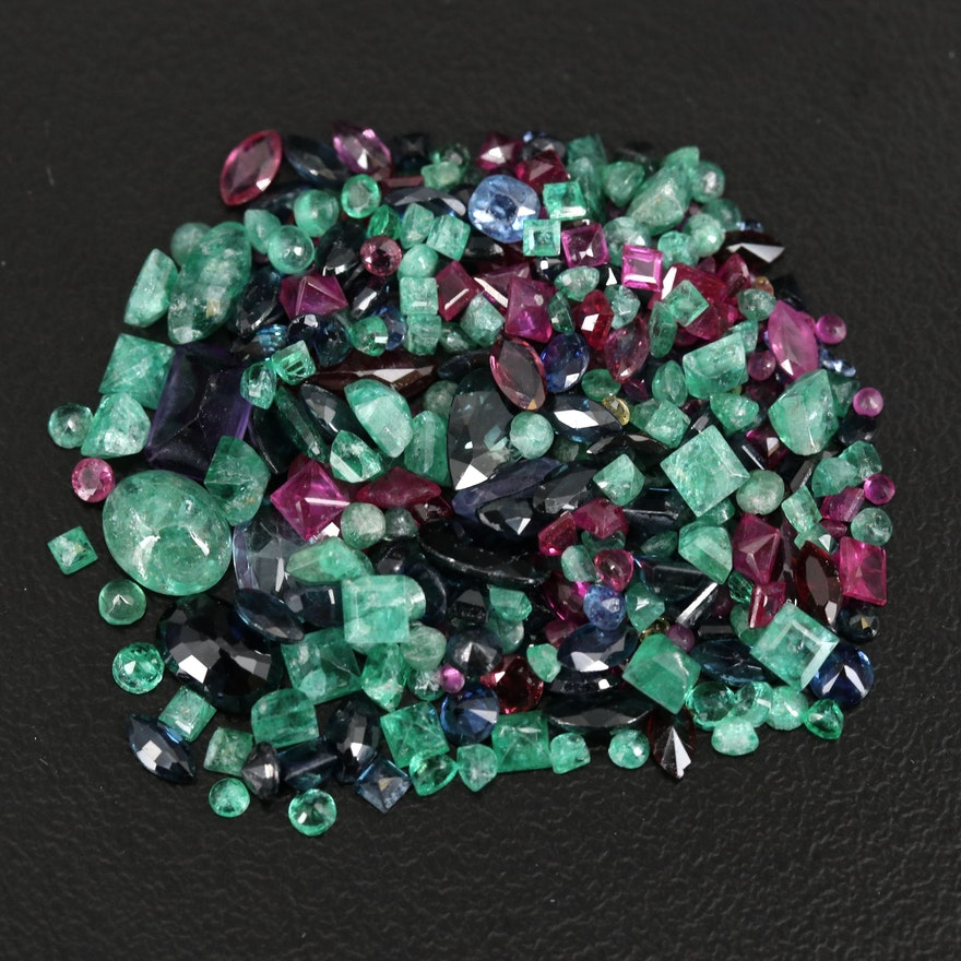 Loose Mixed 23.10 CTW Ruby, Emerald, Sapphire and Additional Gemstones