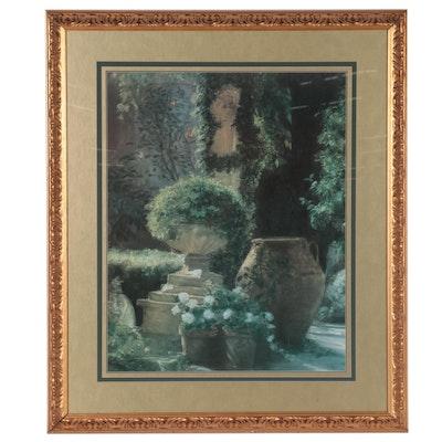 Offset Lithograph After Piet Bekaert of Garden, Late 20th Century