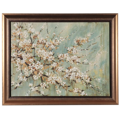 Embellished Floral Giclée, 21st Century